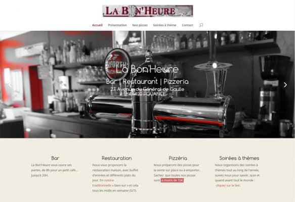 Page d'accueil du site internet La Bon'Heure