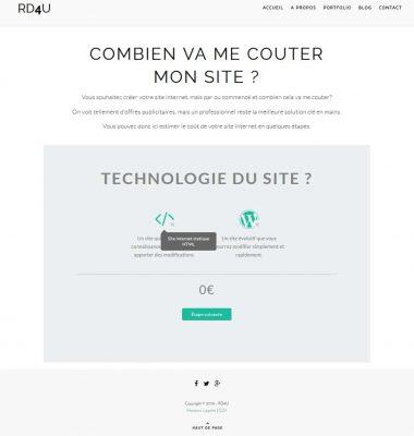 Faite votre devis en ligne pour votre site internet chez RD4U