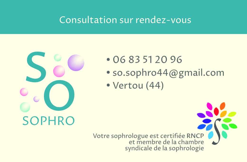Carte de visite So-sophro coté verso 2019