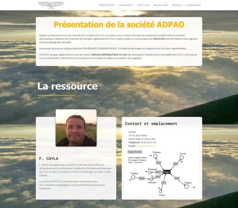 Site internet adpao.fr