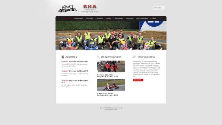 Site internet mode ordinateur du site kartinghautanjou.fr version 1