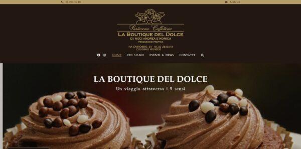 Site La Boutique Del Dolce - Couverture