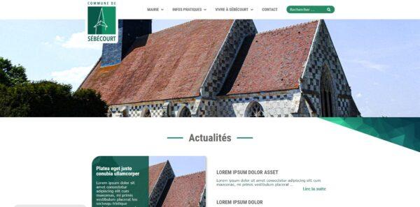 Site de la Mairie de Sébécourt - Couverture