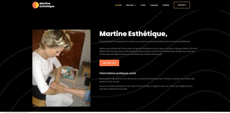 Site Martine Esthétique - Couverture