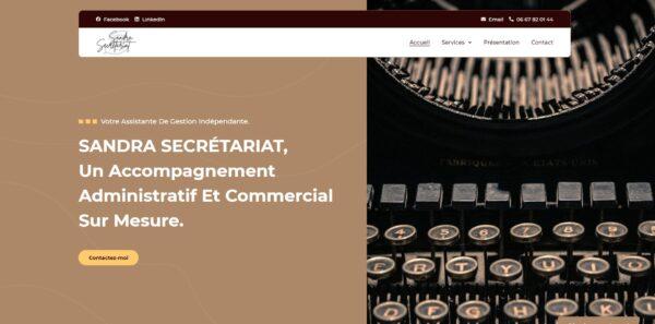 Site Sandra secrétariat - Couverture